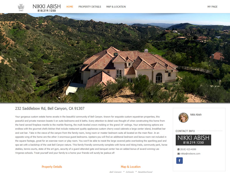 Nikki Abish – Realtor Single Property Website